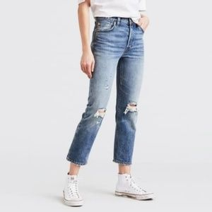 Levi's 501 Original Selvedge Ripped Jeans Sz 27 ✨